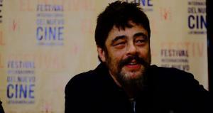 Actor Benicio del Toro en Conferencia de Prensa