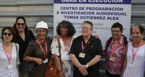Obras de la construcción del centro audiovisual Tomas Guitierrez Alea