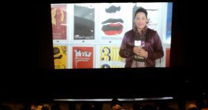 Proyeción del Noticiero del festival en el Cine