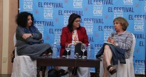 Panel con Faride Zeran, Alicia Gómez Montano y Carmen Lira