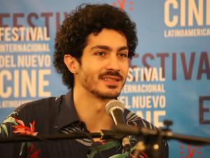 """El actor Chino Darín en conferencia de prensa del filme """"El nido de las comadrejas""""."""