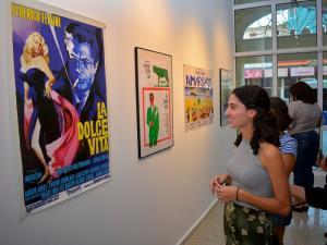 Inauguración de la expo homenaje al cineasta italiano Federico Fellini.