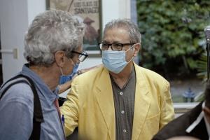 Senel Paz, Premio Nacional de Cine 2020 y Fernando Pérez.