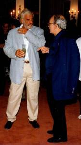 Jean Paul Belmondo y Alfredo Guevara